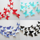 12 Pcs 3D Butterfly Decal Wall Stickers Art Design Home Decor Room Decorations