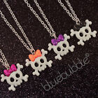 FUNKY 25mm SKELETON SKULL NECKLACE SWEET FUN CANDY GOTH RETRO COOL EMO HALLOWEEN