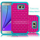 Hybrid Duty Rubber Bling Crystal Diamond Case For Samsung Galaxy Note 5/S6 Edge