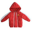 Puma SF Ferrari Infant Baby Boys Girls Red Hooded Padded Jacket (761765 02 U30)