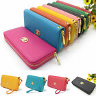 Women Fashion PU Leather Wallet  Zip Around Case Purse Long Handbag Clutch Bag