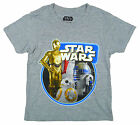Boys Official Star Wars Force Awakens R2D2 C3PO BB8 Droid T-Shirt 3-11 Years