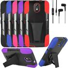 Phone Case For HTC Desire 526 Stereo EarPhone Hands free Rugged Cover Stand