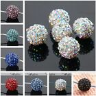 5x Crystal Resin Pave Disco Ball Spacer Beads Jewelry Findings Bracelet DIY 12mm