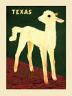 White Sheep in Texas Farm American Travel Tourism Vintage Poster Repro FREE S/H