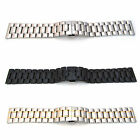 HEAVY Watch Strap Bracelet STAINLESS STEEL 18mm-32mm Band Deployment Clasp S54