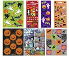 HALLOWEEN Stickers (Choice of Ghosts/Pumpkins/Spiders/Bats/Spooky) Kids/Decorate