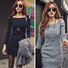 Winter Fall Women's Long Sleeve Casual Bodycon Evening Party Bandage Dress HYSG