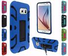 For Samsung Galaxy S6 Hip Vertical Hybrid Kickstand Cover Case