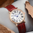 Women Leather Strap Analog Fashion Quartz Movement Dress Casual Wrist Watch Men