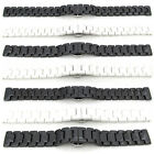 Watch Strap CERAMIC Bracelet Band BLACK WHITE 12mm-22mm Hidden Deployment Clasp