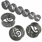 2Pcs alloy double flare flesh tunnel ear stretching plugs 9GBJ-PICK SIZE&STYLES
