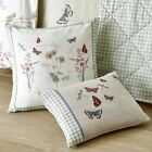 COUNTRY JOURNAL VINTAGE STYLE FLORAL FILLED CUSHION 43cmx43cm 28cmx38cm