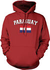 Paraguay Country Flag Pride Futbol Football Soccer  Hoodie Pullover