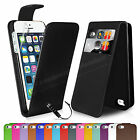 Wallet Flip Leather Case Cover For Apple iPhone 5 5S Free Screen Protector
