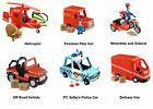 Postman Pat Push Along Vehicles - Delivery Van - Motorbike - Helicopter