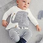 Casual Baby Boys Girls Autumn 2PCS Set T-shirt+ Pants Outfit Clothes Age 0-4 A99