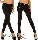 Ladies Womens Skinny Jeans Black Slim Fit Stretch Denim Pants UK Size 8 10 12 14