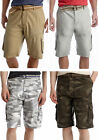 PLUGG MEN'S BELTED RIPSTOP CARGO SHORTS 29 30 31 32 33 KHAKI STONE CAMO NEW NWT