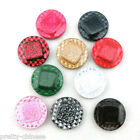 10 X Glitter Noble Plastic Surface Square Gibbous Round Buttons 1.5/2.2/2.5CM