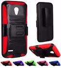 For ZTE Obsidian Z820 Rugged Heavy Duty Side Kickstand Holster Cover Case