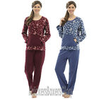 Ladies Butterfly Fleece Pyjamas Pyjama Top and Bottoms Size 8 10 12 14 16 18