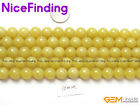 Natural Lemon Stone Round Beads For Jewelry Making 15'' 4mm 6mm 8mm 10mm 12mm