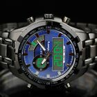 INFANTRY Mens Quartz Wrist Watch Coast Guard Digital Chronograph Stainless Steel