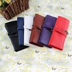 Cosmetic Makeup PU Leather Brush Bag Case Pen Pencil Pouch Stationery Box Purses