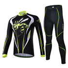 New Men Wasp Cycling Jersey Set Bike Long Sleeve Jersey 3D Silicone Padded Pants