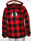 PENN-RICH WOOLRICH GIUBBOTTO DONNA BUFFALO JKT PLAID CHECK ROSSO E NERO S M L XL