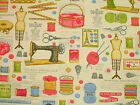 Sewing Dressmaking Haberdashery Linen Fabric Curtain Craft Quilting Patchwork