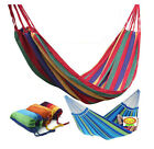 Hot Double Cotton Fabric Hammock Air Chair Hanging Swinging Camping Outdoor JRUS