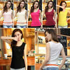 Fashion Women Summer Vest Top Sleeveless Lace Blouse Casual Tank Tops T-Shirt RD