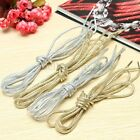 Round Rope Gold or Silver Colored Laces Shoe Shoelaces Runner Boot Shoestrings