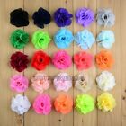 Chiffon Sewing Corsage Hair Accessories Flowers Diy Applique 6cm 25color pick