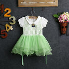 Baby Girls Princess Floral Dress Kids A-line Tulle Skirt Layered One-piece Dress