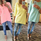 Womens Fashion Ladies Long Sleeve T Shirt Casual Lace Blouse Loose Cotton Tops
