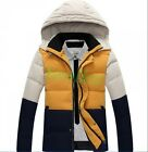 Fashion Mens Winter Warm Down Coat Hooded Slim Fit Outwear Casual Pieced Jackets
