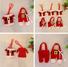 6pcs Christmas Decorations Happy Santa Silverware Holders Pockets Dinner Decor