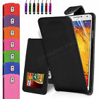 Leather Wallet Case Cover For Samsung Galaxy Note 3 N9000 N9005 + Screen Guard