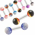 2Pcs Steel straight barbell eyebrow tragus bar piercing 9CWR-SELECT DESIGN&SIZE