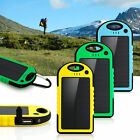 5000mAh USB Waterproof Solar Power Charger Bank Battery For Mobile Cell Phone