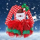 Baby Girls Kids Christmas Party Costume Red Santa Claus Tutu Dress Outfit 1-6Y