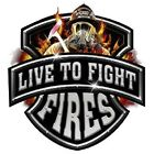 LIVE TO FIGHT FIRES T-SHIRT FIREFIGHTER PROFESSION