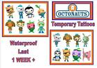 OCTONAUTS inspired party  temporary TATTOOS waterproof  LAST1 WEEK+ tattoo kids
