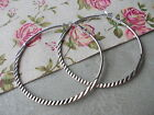 PAIR OF LARGE 60MM HOOP EAR RINGS, SILVER COLOUR EARRINGS