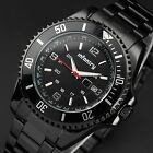 INFANTRY Mens Wrist Watch Night Vision Quartz Army Sports Stainless Steel Luxury