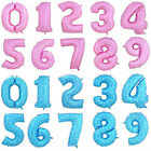 Chic Pink Blue 40 Inch Number Foil Ballon 0-9 Birthday Baby Boy Girl Party