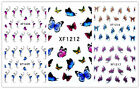 Nail Art Sticker Tattoo Water Transfer Fingernagel Aufkleber Schmetterlinge